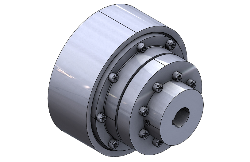 N-EUPEX Flexible Coupling Type P With Brake Drum Supplied by HMK