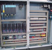 Main electrical panel showing Siemens control equipment